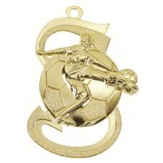 Medaille zamac voetbal 39x59 mm