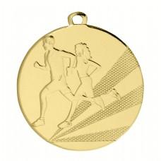 Medaille ijzer hardlopen 50 mm